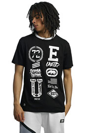 ECKO UNLTD. College Patches T-Shirt Black auf oboy.de