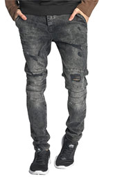 JUST RHYSE Destroyed Straight Fit Jeans Grey auf oboy.de